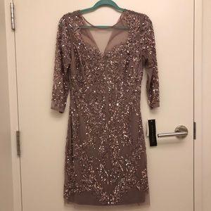 Gorgeous sequin Aidon Mattox cocktail dress